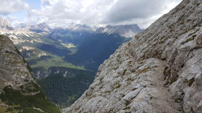 Lago di Sorapiss hike, Cortina, Dolomites, italy