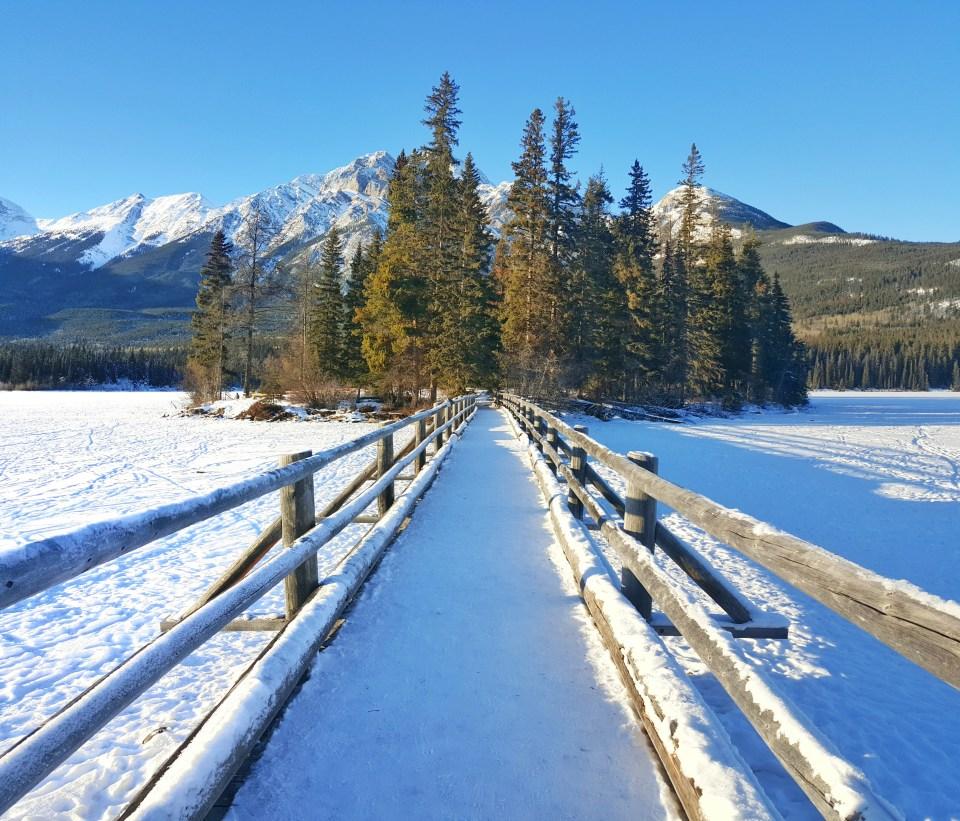 Fifteen Top Winter Activities in Alberta, Pyramid Island at Pyramid Lake