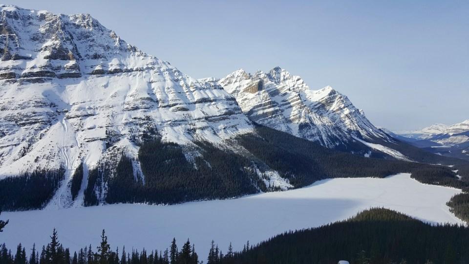 Fifteen Top Winter Activities in Alberta, Bow Summit, Peyto Lake, Alberta, Canada Banff National Park