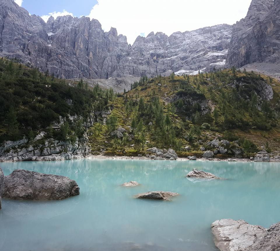 Lago di Sorapis, Lake Sorapis, Dolomites, Cortina, Italy