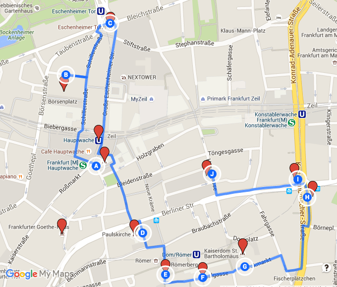 Frankfurt Walking Tour, Germany