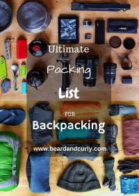 Ultimate Packing List for Backpacking Trips, Backpacking Guide, Backpacking Tips, Hiking Tips, Hiking Pack List, Hiking Trip List, check out more at www.beardandcurly.com