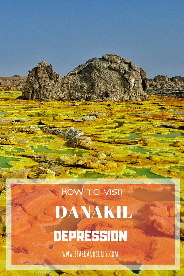 How to Visit and Book a Tour to the Danakil Depression. Tigray, Danakil, Erta Ale, Ethiopia. #danakil #desert #bizarre #landscape #travel www.beardandcurly.com