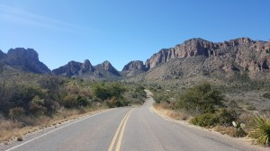 Driving to Chisos Mountains
