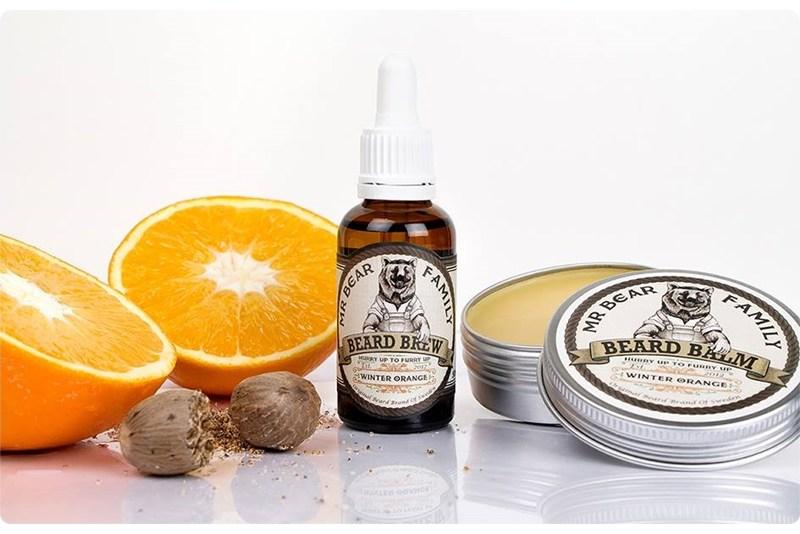 Mr Bear Family Winter Orange Beard Balm & Beard Brew (Limited Edition) – recenzja zestawu do brody