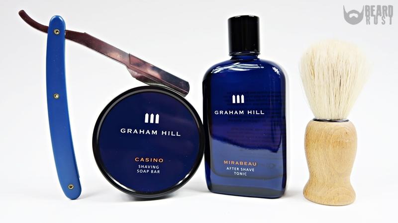 Graham Hill Casino + Mirabeau – recenzja mydła do golenia i toniku po goleniu