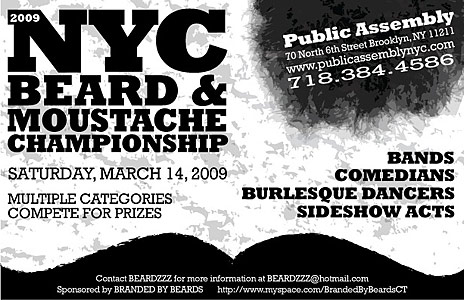 2009 nyc beard and moustache championship all about. Black Bedroom Furniture Sets. Home Design Ideas