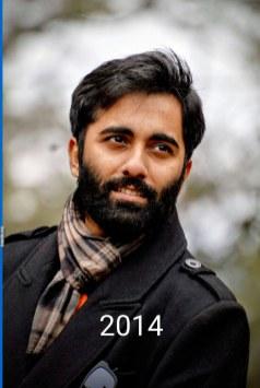 Aurindam: today's beard, 2016/12/26