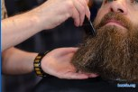 Chris' beard update photo 10: getting his beard trimmed