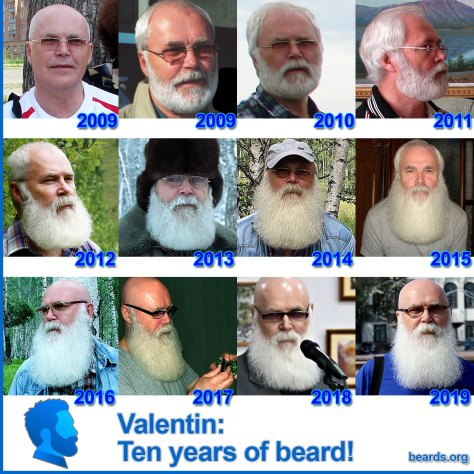 Valentin: ten years of beard!