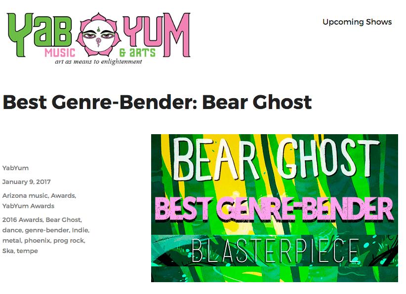 Bear Ghost Wins Genre Bend Award
