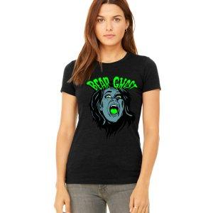 Bear Ghost Scream Womens T - Charcoal
