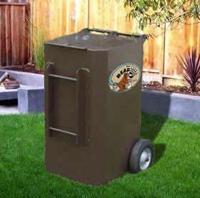 Wheeled Metal Bear Proof Garbage Cans