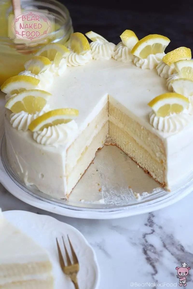 Lemon Layer Cake With Lemon Curd Frosting Bear Naked Food