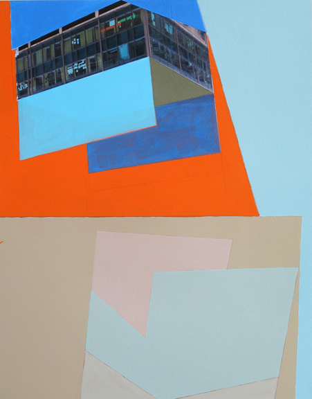 Situation Paris, 2012. 11 x 13 15/16 Inches, Acrylic, photograph and collage on paper. courtesy Yancey Richardson Gallery