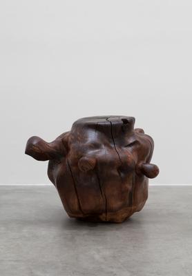 Alma Allen Not Yet Titled, 2014 Claro walnut 25 3/4 x 36 1/2 x 28 inches Courtesy Blum & Poe