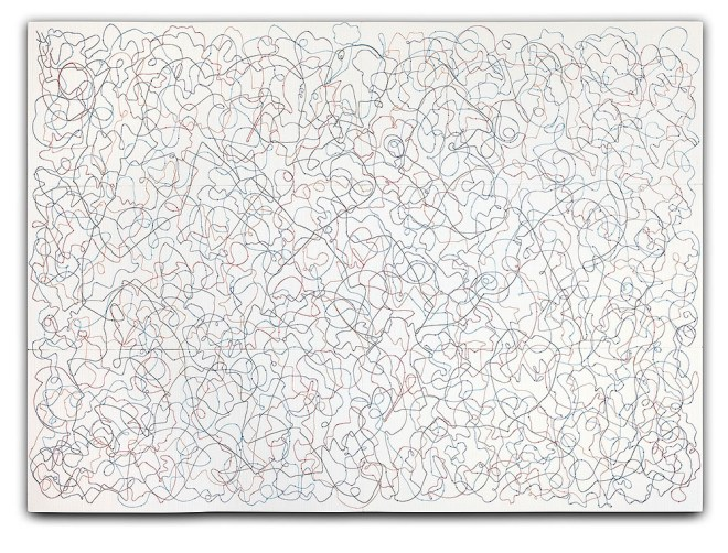 """""""MOMENT OF CLARITY"""", © 2013 Polyester plates, electric cords ; 500 x 360 cm - courtesy the artist"""