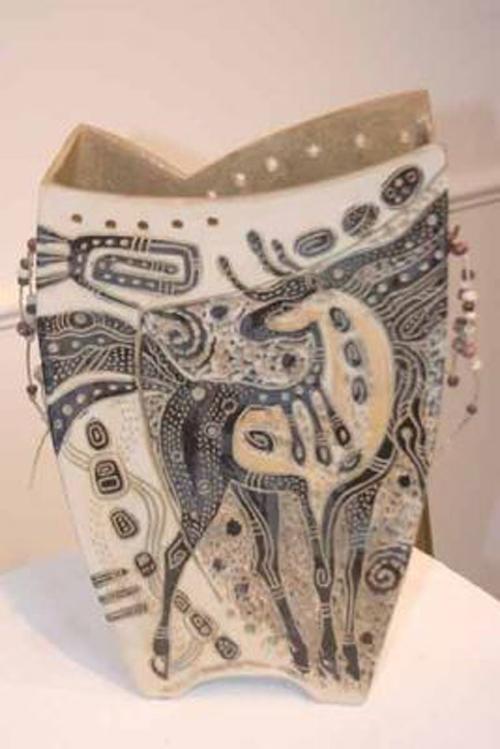 Spirit Horse Vase by Christine McKay