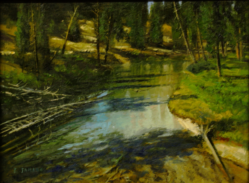"""Clear Water By Jerry Inman Oil 12"""" x  16"""""""
