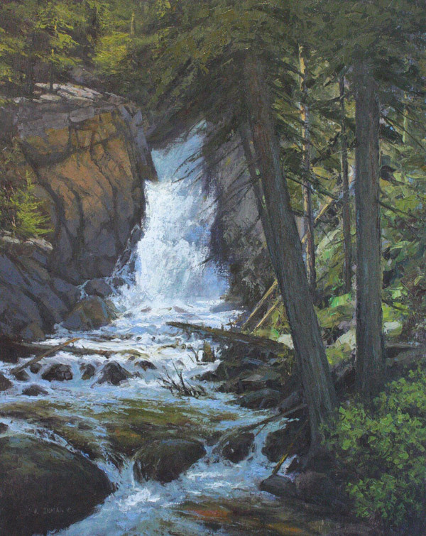 Upper Basin Falls by Jerry Inman