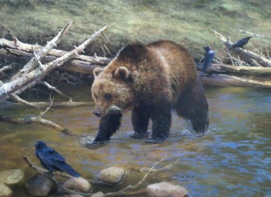 Yellowstone Griz by Bonnie Marris