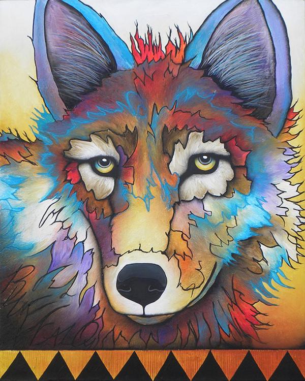 Fire Wolf by Micqaela Jones