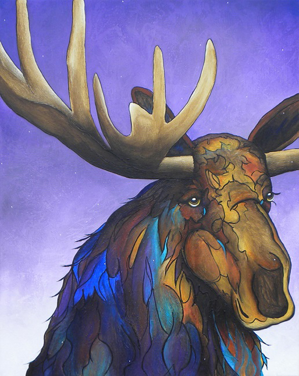 Winbter Moose by Macqaela jones