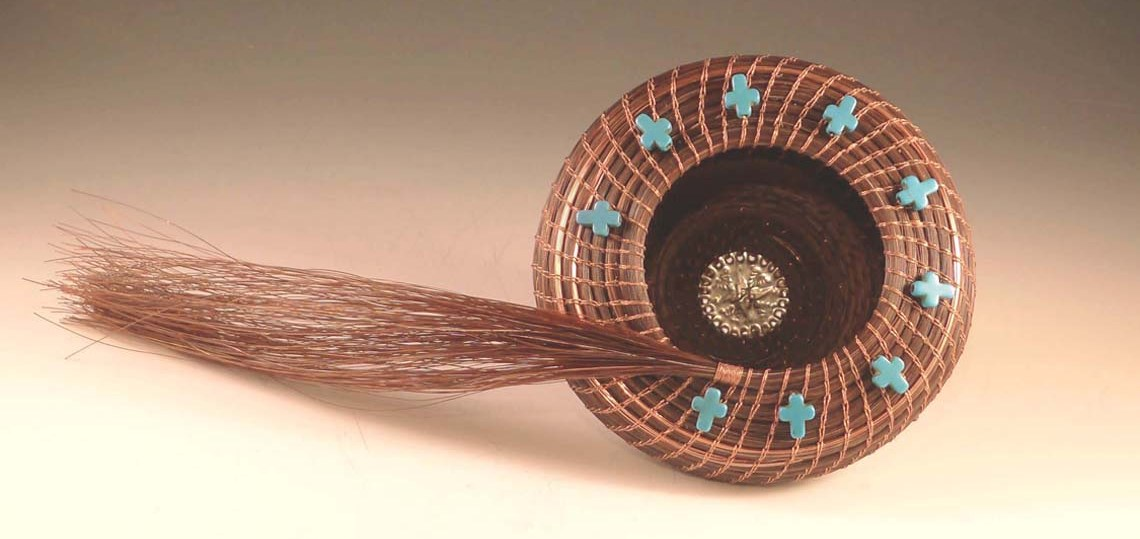 Crucitas-y-Cobre Horsehair Basket by Jane Chavez