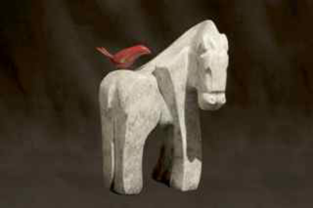 She Rides a White Horse - Bronze - by Mark Yale Harris