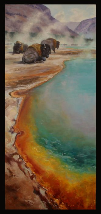 "PRISMATIC HUES JENNIFER JOHNSONOIL 60"" X 26"""