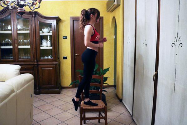 step-up sulla sedia