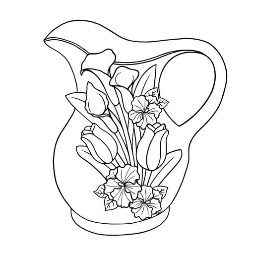 Floral-Jug-BW
