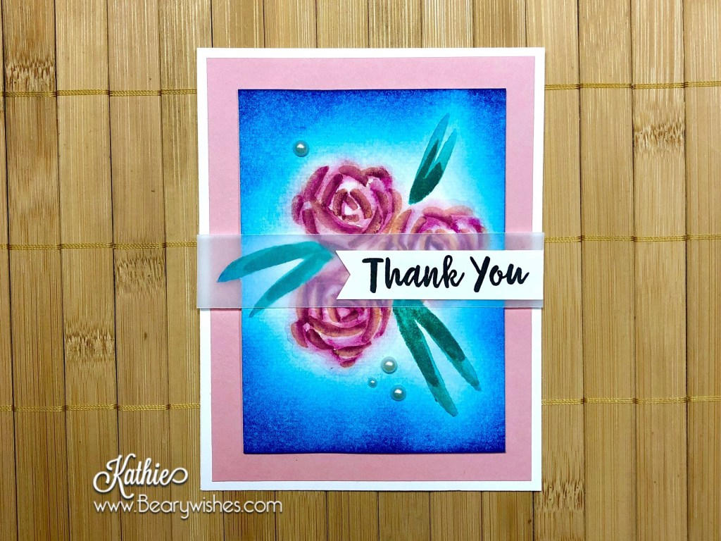 Canadian stampin up demonstrator, stampin up, paper piecing, card making, card making Canada, paper crafting, paper crafting Canada, stamping up demonstrator, Kathie zaban, bearywishes, stampinkathie, stampin Kathie, Stamping, card making Canada, blog hop, abstract impressions, thank you,