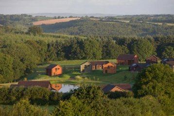 Luxury lodges set around the lake