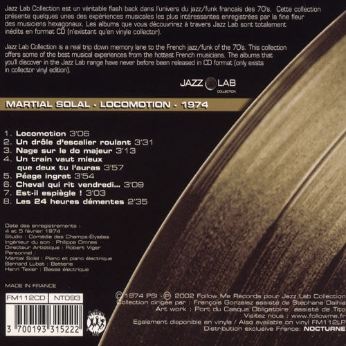 beatedelic records 60s and 70s vinyl cds original pressings and reissues locomotion martial solal fm112cd cd