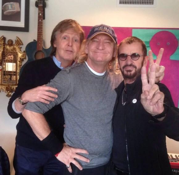 Ringo Starr, Paul McCartney and Joe Walsh, 20 February 2017