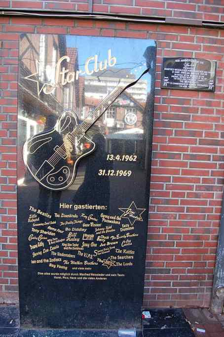 Star-Club memorial sign, Hamburg, 2011