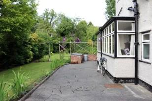 Side garden of Mendips, 251 Menlove Avenue, Liverpool