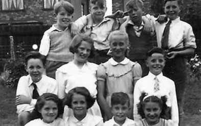 Paul McCartney (left), 1940s
