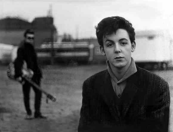 Paul McCartney and Stuart Sutcliffe in Hamburg, 1960