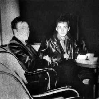 John Lennon and Paul McCartney in Paris, September 1961