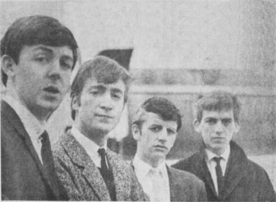 The Beatles, Speke Airport, Liverpool, 4 September 1962