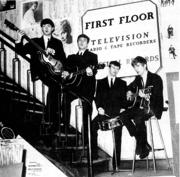 The Beatles at NEMS, Liverpool, 24 January 1963