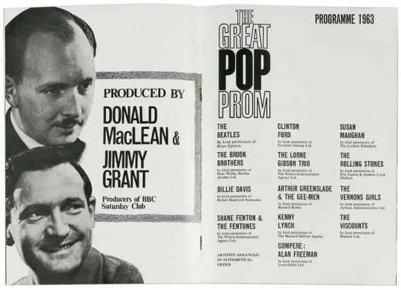 Programme for the Great Pop Prom, Royal Albert Hall, London, 15 September 1963