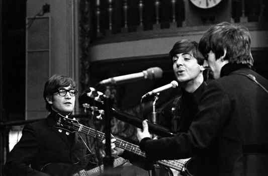 John Lennon, Paul McCartney and George Harrison, Saturday Club, BBC, 17 December 1963