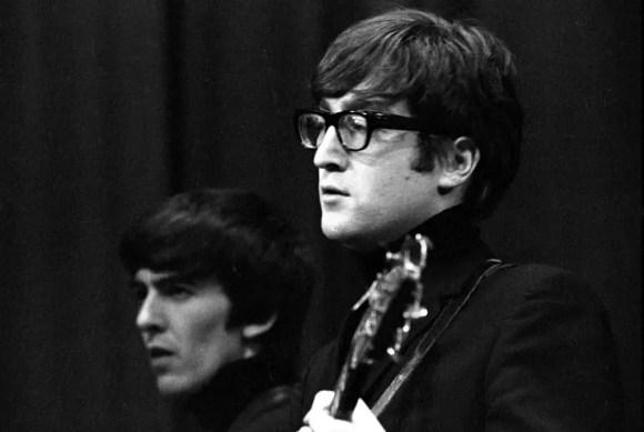 George Harrison and John Lennon, Saturday Club, BBC, 17 December 1963
