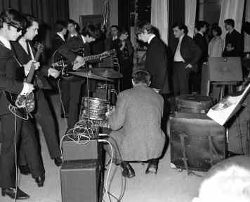 The Beatles backstage in Versailles, France, 15 January 1964