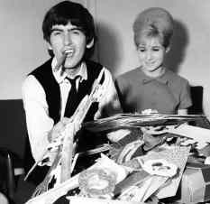 George Harrison celebrates his 21st birthday, 25 February 1964