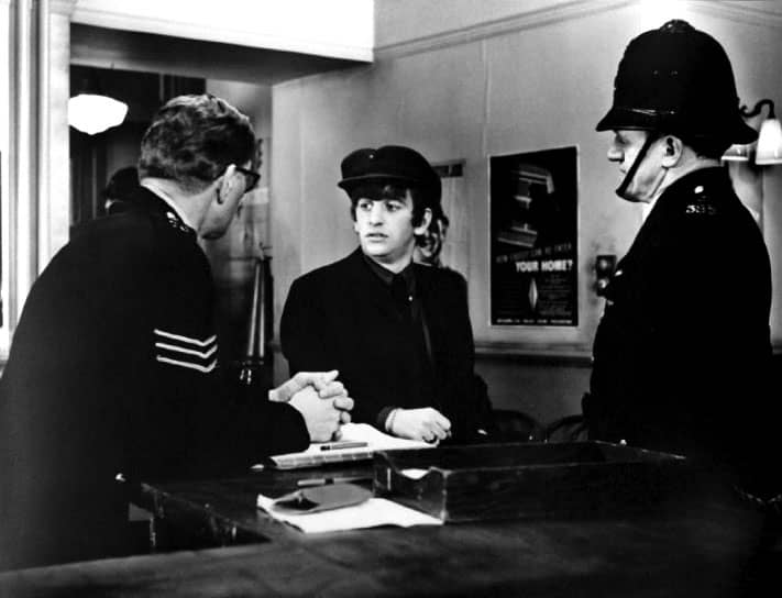 Ringo Starr in The Beatles' film A Hard Day's Night, 7 April 1964