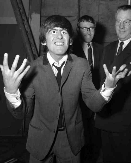 George Harrison at Madame Tussaud's, London, 29 April 1964